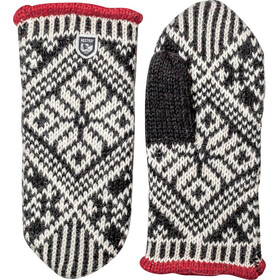 Hestra Nordic Wool Manoplas, negro/blanco